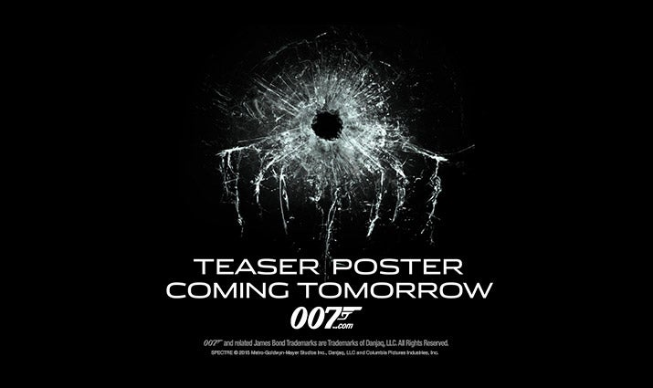 SPECTRE teaser poster coming tomorrow