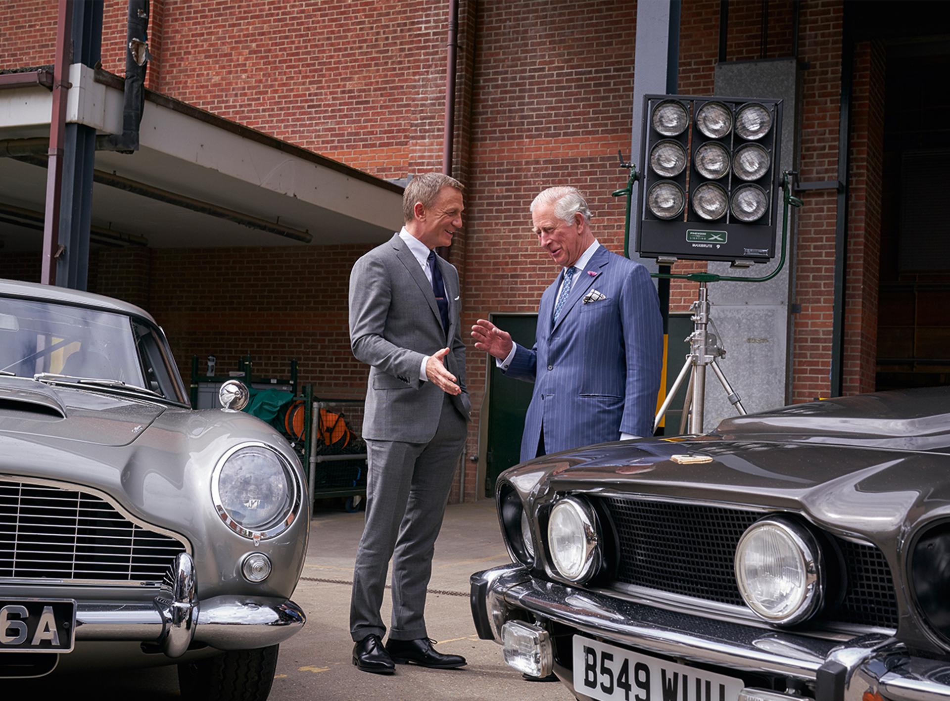 HRH The Prince of Wales Visits Bond 25 Sets