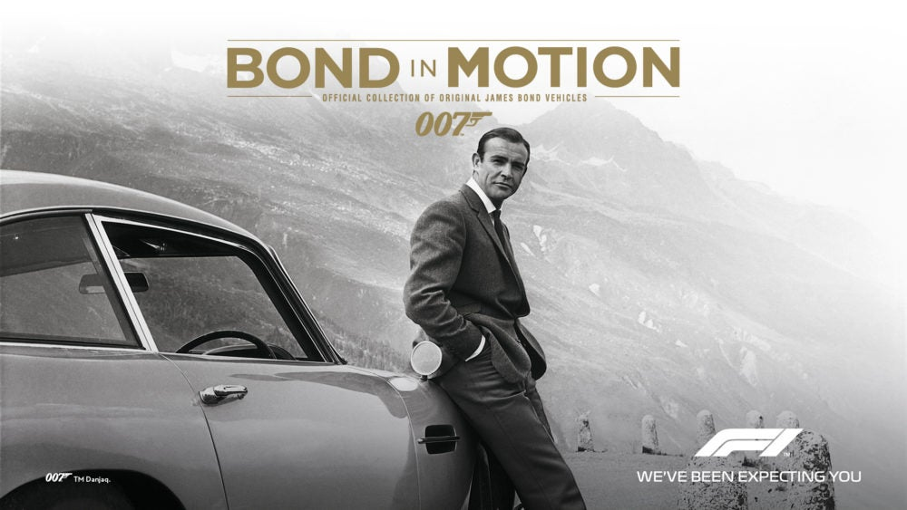 BOND IN MOTION GOES ON TOUR WITH FORMULA 1