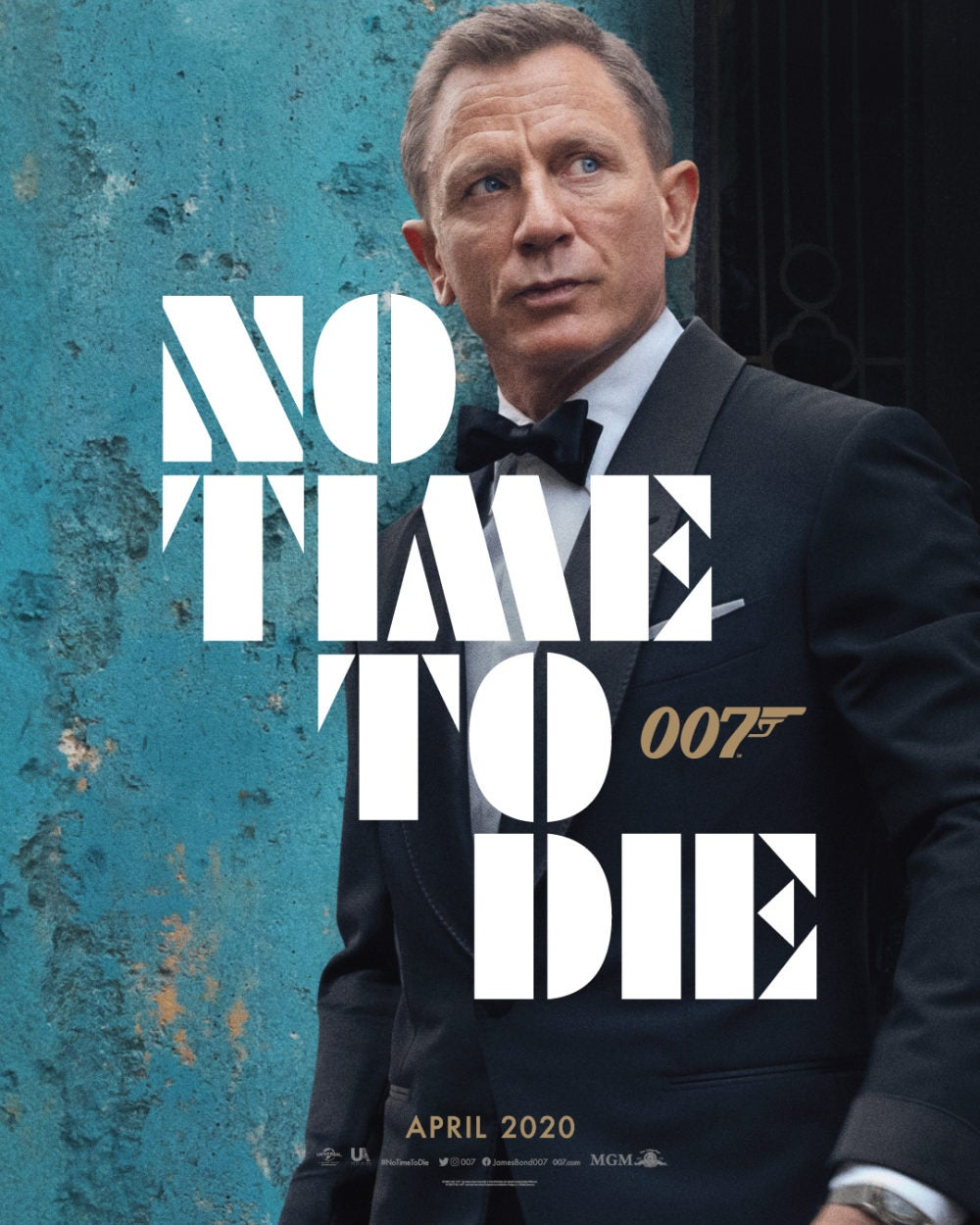 First poster for NO TIME TO DIE