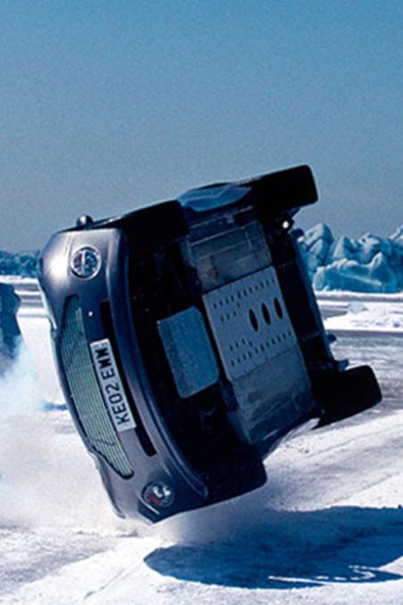 Bond Versus Zao Frozen Lake Chase