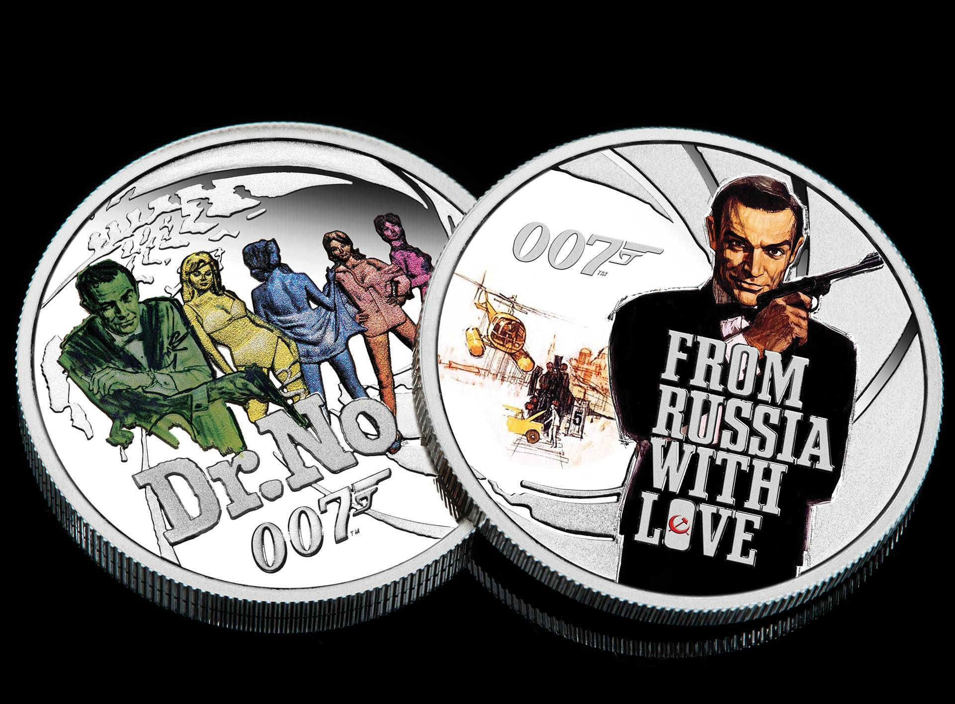 The Perth Mint James Bond 25 Coin Collection