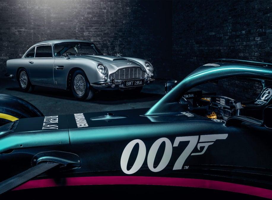 Aston Martin Cognizant Formula One Team Celebrates No Time To Die
